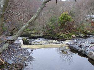 Intake weir at Afon Ogwen