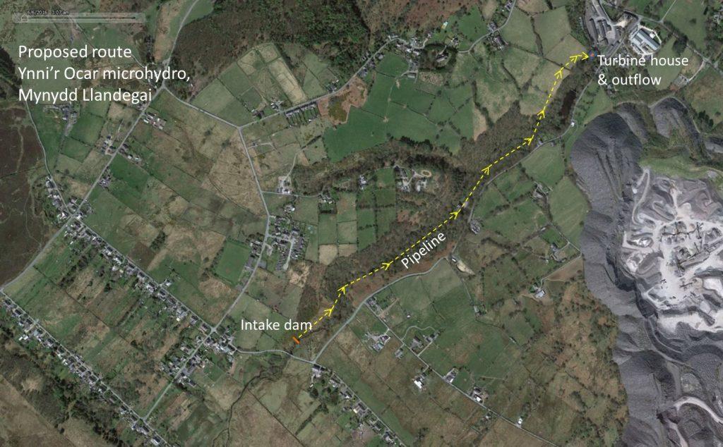Ynni'r Ocar pipeline route